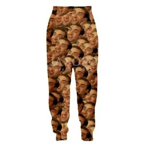 Actor-Nicolas-Cage-3D-Printing-Fashion-Trousers-Women-Men-039-s-Casual-Pants-W32