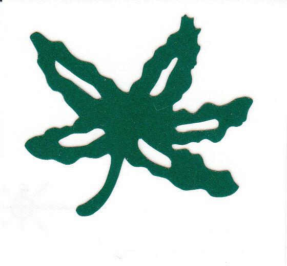 reflective ohio state buckeyes buckeye leaf 2 inch green helmet