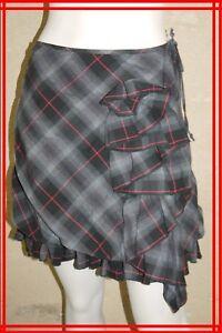 COP-COPINE-Taille-S-36-Superbe-jupe-doublee-grise-modele-SUSAN-skirt-falda-rock
