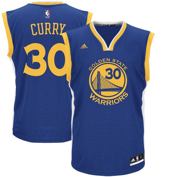 NBA Trikot Stephen Curry Curry Curry 30 Golden State Warriors Jersey Revolution30 blau c9a9a9