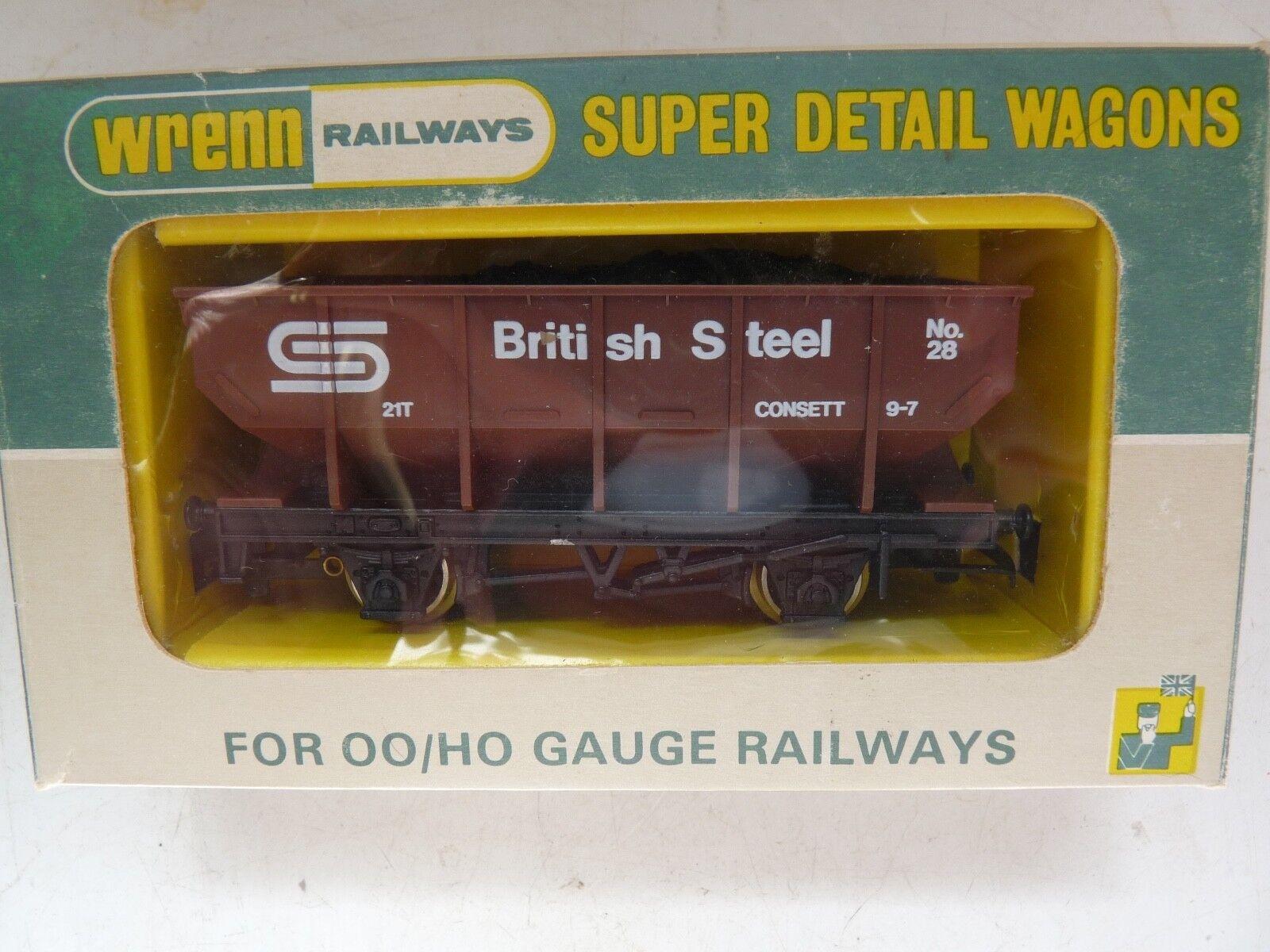 WRENN W5098 'BRITISH STEEL' 21TON HOPPER WAGON P4 NEW BOXED