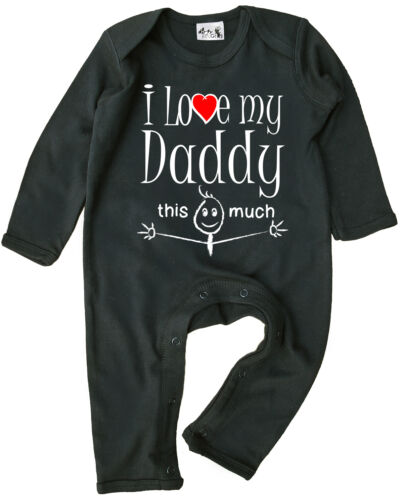 """Daddy Baby Clothes /""""I Love My Daddy This Much/"""" Baby Romper Suit Father/'s Day"""