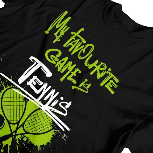 1Tee Kids Girls My Favourite Game Is Tennis T-Shirt