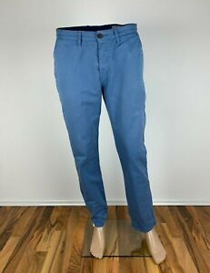 Ben-Sherman-EC1-Chinos-Cotton-Pants-Trousers-Light-Blue-33-32