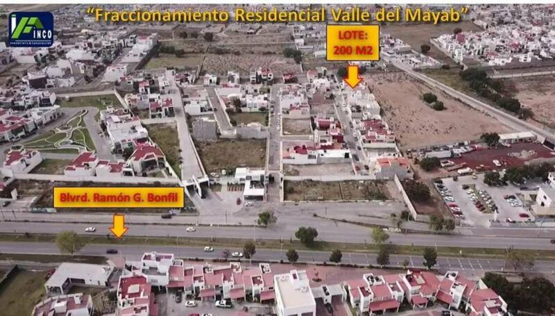 Lote de 200 M2, Fracc. Residencial Valle El Mayab, Zona Plateada, Pachuca, Hidalgo.