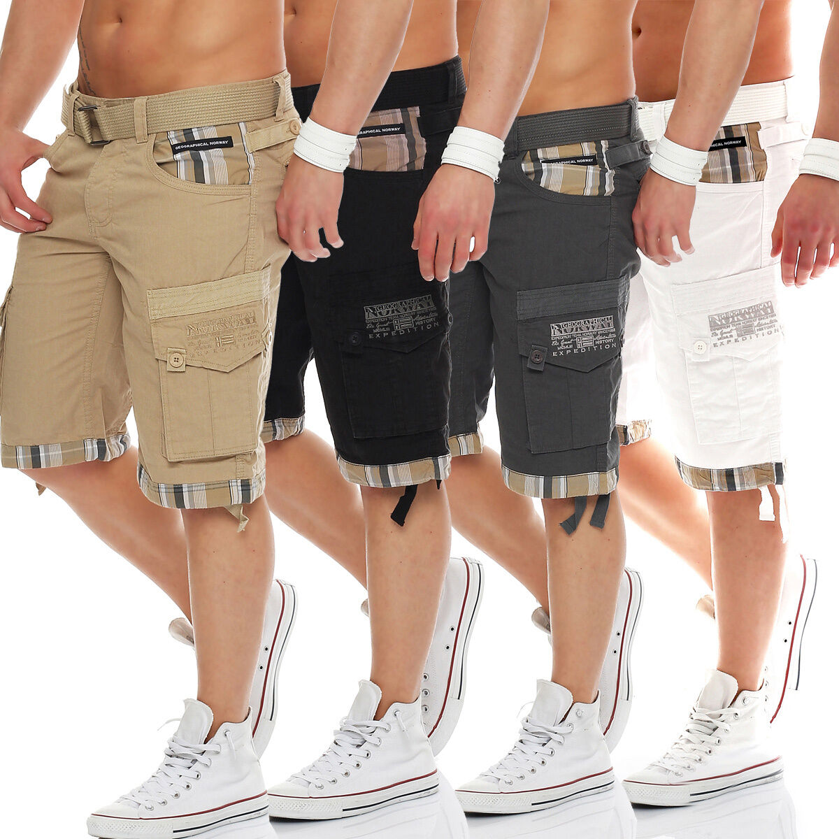 Geographical Norway Men's Trousers Summer Bermuda short Shorts Cargo Shorts