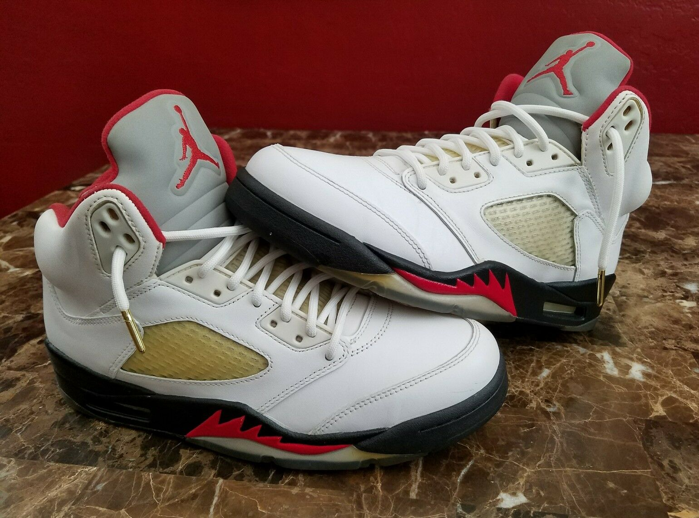 Air Jordan 5 V Retro Fire rot 3m 2013 Mens sz 8 Basketball schuhe Turnschuhe rot