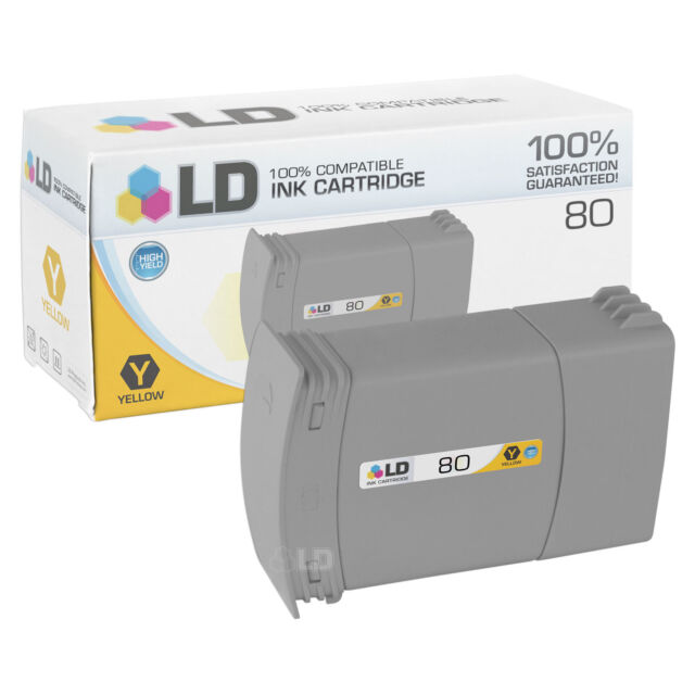LD C4846A 80 Cyan Ink Cartridge for HP Printer