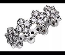 10ebfe330 Authentic Pandora Silver Oriental Blossom CZ Ring 191000CZ Size 5 EUC
