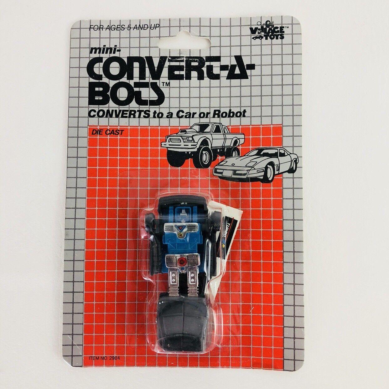 Vtg 1983 Village Toys Congreen A Bot Toy Robot On Card Purple Sedan
