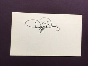 Dizzy-Dean-d-1974-Signed-3x5-Index-Card-Autograph-Clean-FREE-SHIPPING