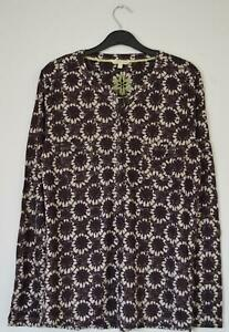 NEW-EX-WHITE-STUFF-UK-SIZE-10-18-DARK-PURPLE-PLUM-LINEN-JERSEY-BLOUSE-TOP