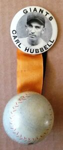 CARL HUBBELL STRIKE OUT KING PIN AND BALL RARE