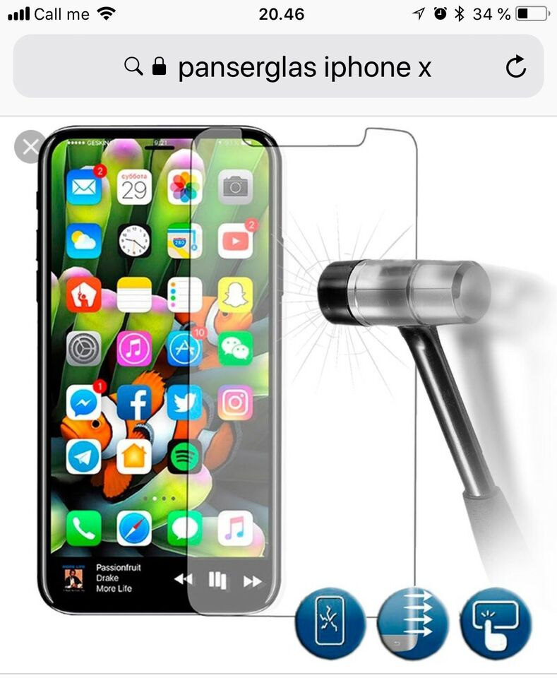 Panserglas iPhone X