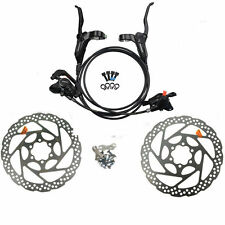 SHIMANO BR-BL-M315 Hydraulic Disc Brake Set Front and Rear Black with Rotors
