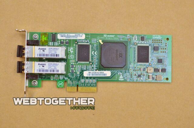 HP QLogic QLE2462-HP PCI-E 4GB FC DP Card PX2510401 407621-001 HIGH Profile