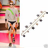 Versace Gold Star Medusa Charm Chain Necklace