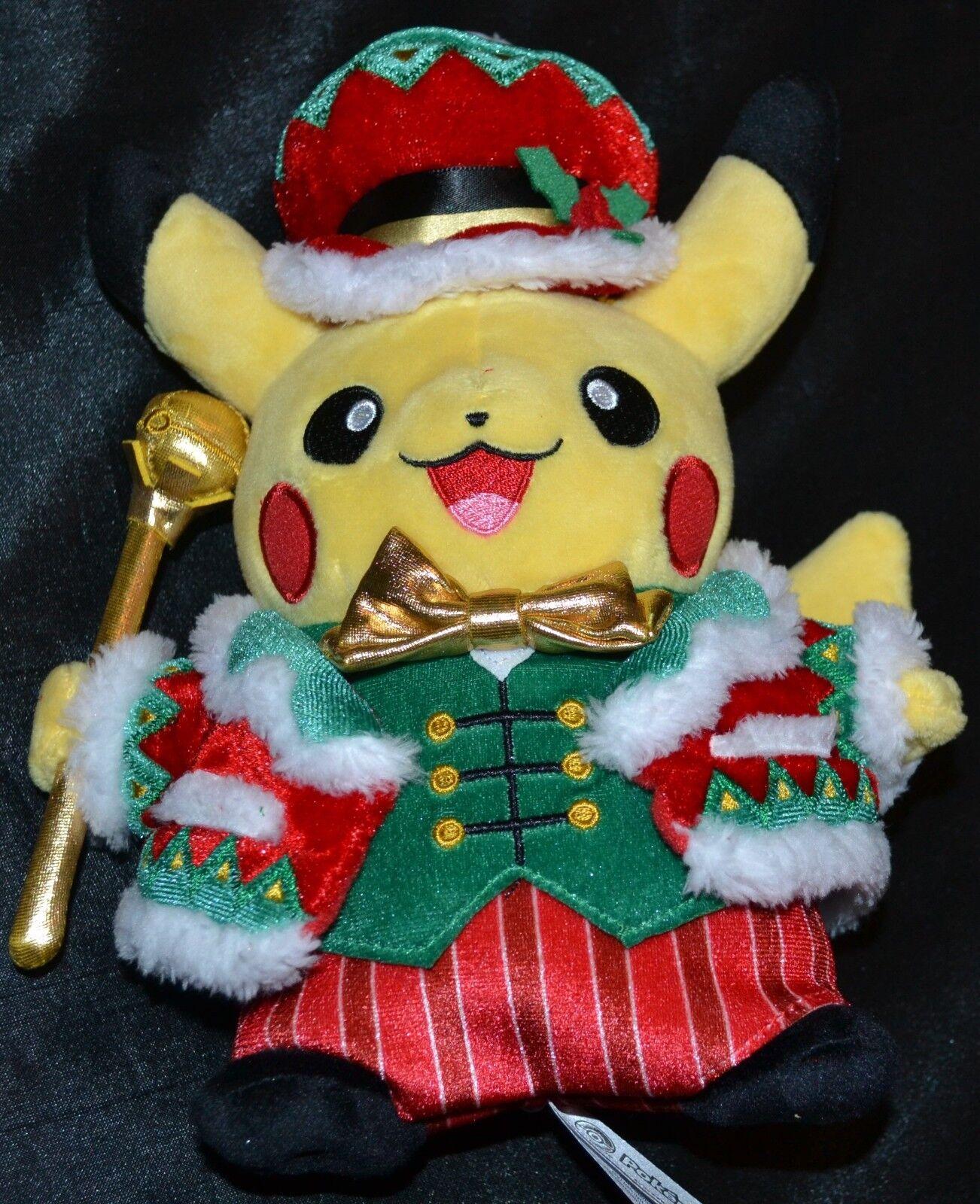 9.5  Christmas Pikachu Official Pokemon Center Poke Plush Dolls Toys Xmas Gifts
