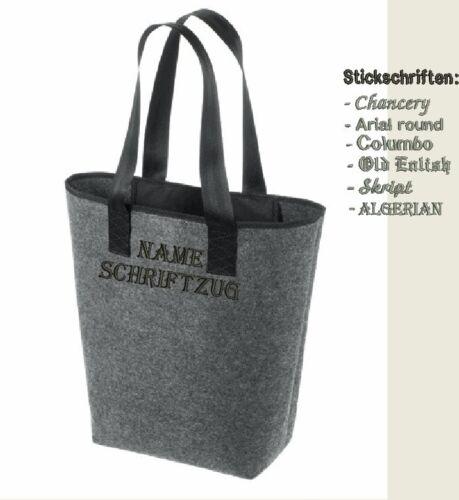 Bolsa de fieltro bordadas con nombres bolso personalizada Shopper New calssic halfar