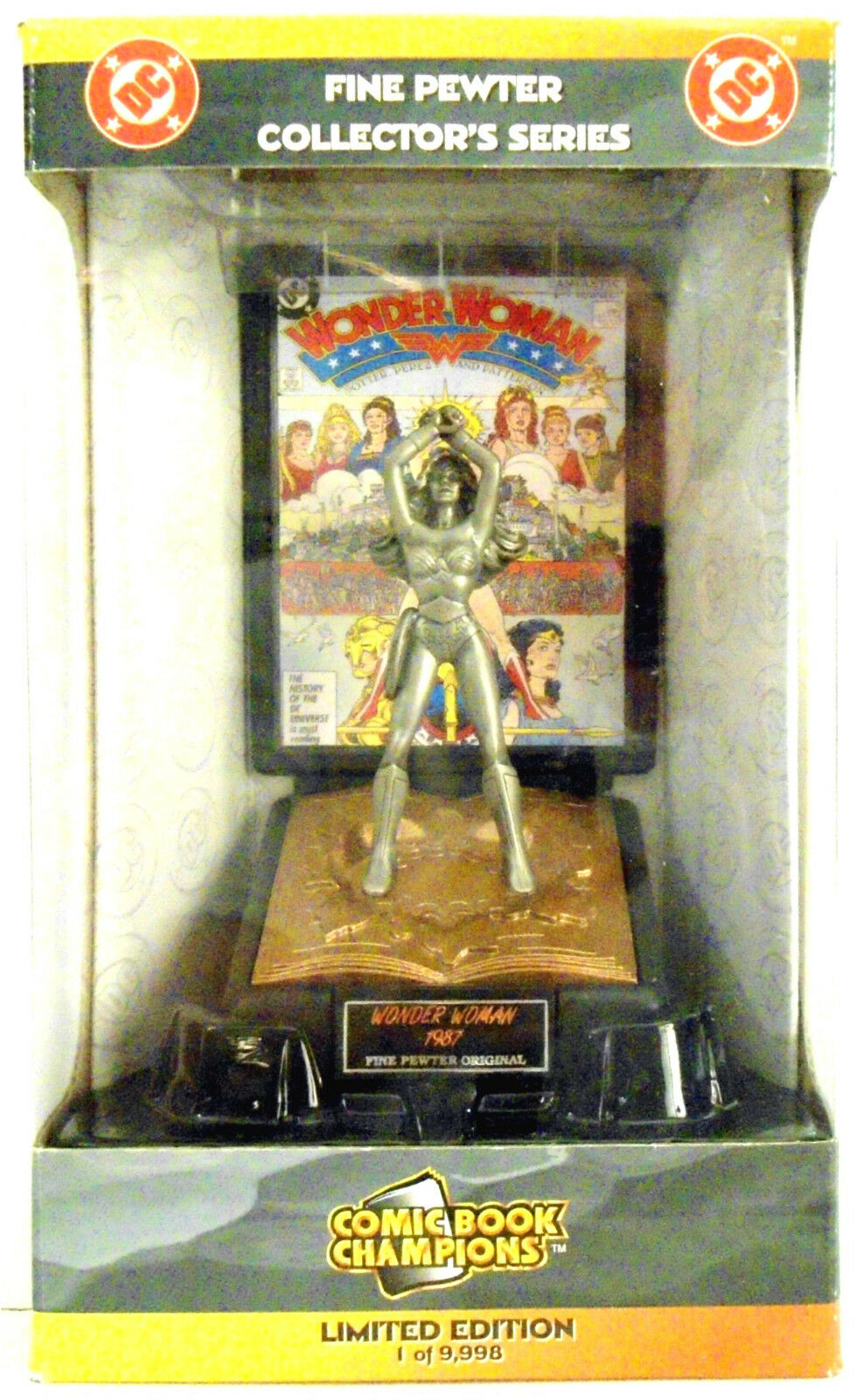 WONDER WOMAN Pewter Figure Comic Book Champions 1998 Limited Edition