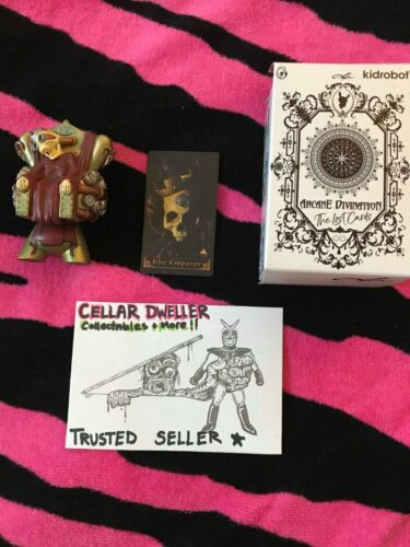 Kidrobot Arcane Divination Lost Cards The Emperor Dunny by Doktor A