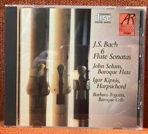 CD Bach Sonaten für Traversflöte & Cembalo John Solum Igor Kipnis ARABESQUE 1988