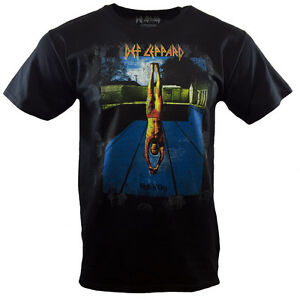 DEF-LEPPARD-Mens-Tee-T-Shirt-Rock-Band-Music-Tour-Vintage-S-Sleeve-Black-NEW