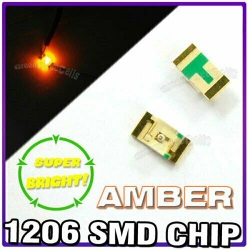 100 x 1206 Amber Super Bright LED SMD SMT Bulb Lamp Light High Brightness RoHs