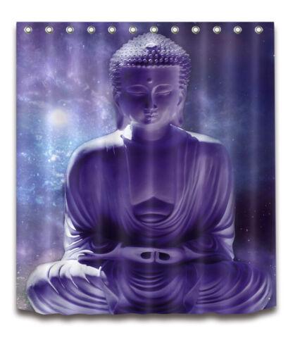 "72//79/"" Buddha Meditation Sky Bath Waterproof Fabric Shower Curtain /&12 Hooks"