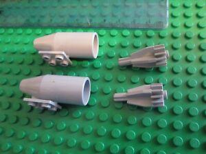 Turbo Fan Motor White Grey LEGO Aircraft 2 X Large Round Smooth Rocket Engine