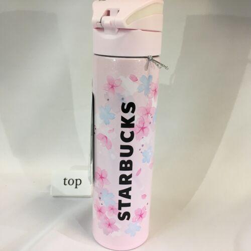No5 Starbucks Japan SAKURA 2020 One Touch Stainless Bottle Spring Misty-Rain