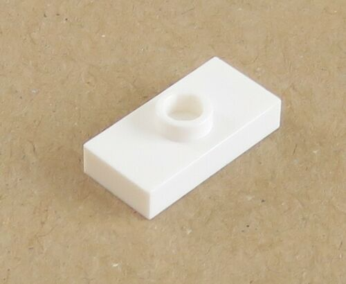 Platte // Plate // Fliese 1 x 2 mit 1 Noppe 6 Stück weiß # 3794 LEGO
