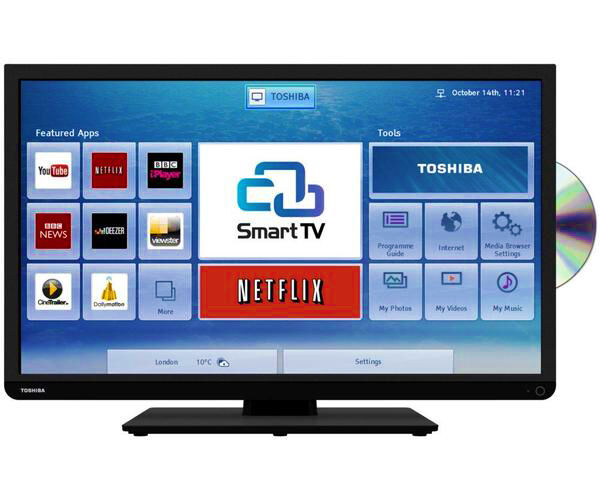 Toshiba 40d3453db 40 Widescreen Hd Smart Led Tv Freeview And Usb