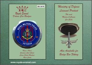 ROYALE CAR GRILL BADGE ROYAL ARTILLERY VETERAN BLUE  B2.2053