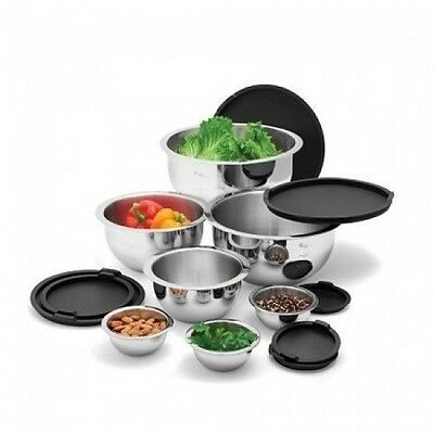 Wolfgang Puck Bistro Elite 14 Piece Stainless Steel Mixing Bowl Set