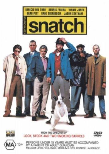 1 of 1 - Snatch (2000) Benicio Del Toro, Brad Pitt - NEW DVD - Region 4