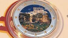 2 euro 2016 MALTA color farbe kulur couleur cor Gigantia Malte Ġgantija Ggantija