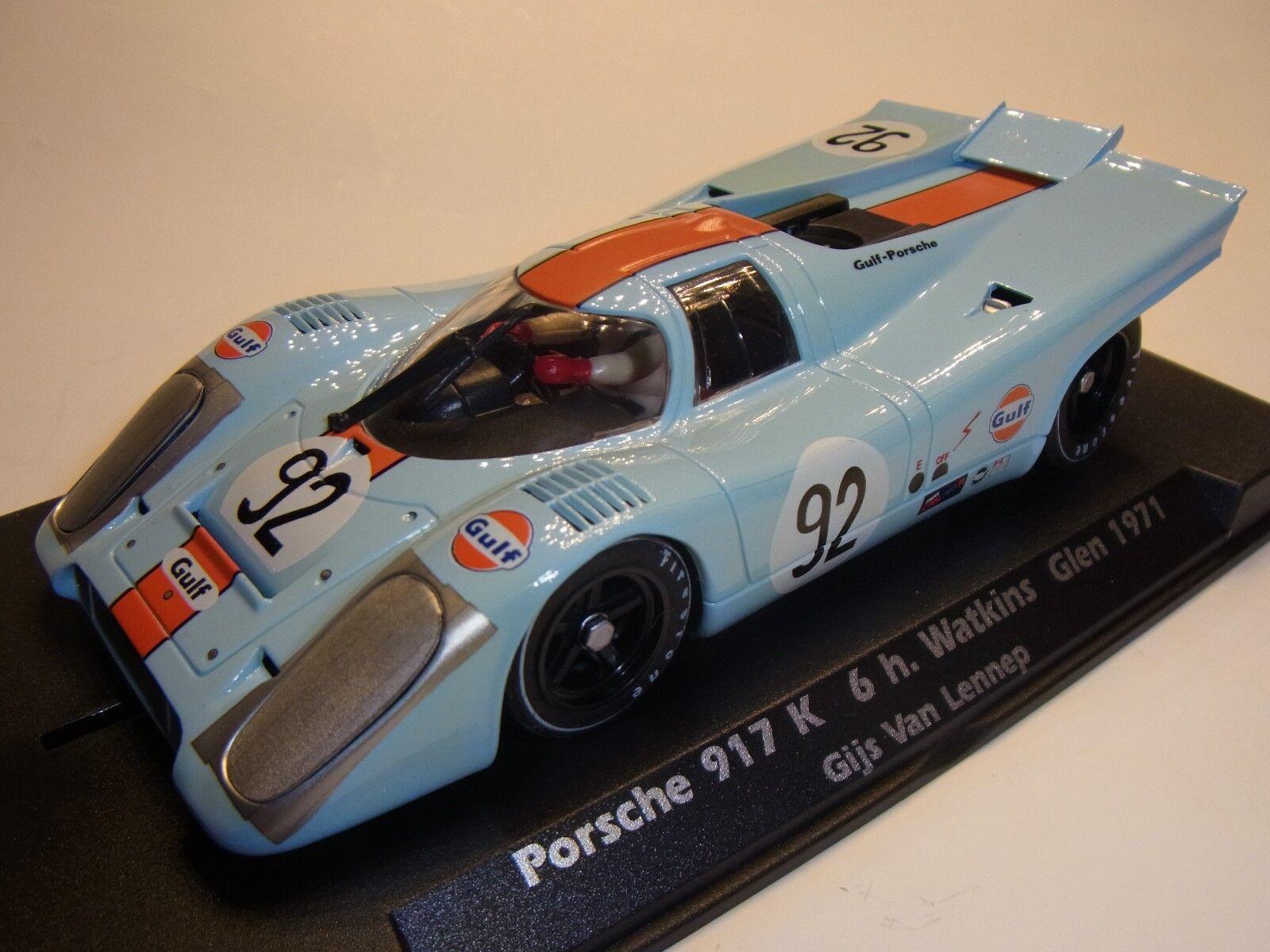 FLYSLOT PORSCHE 917 K 6h Watkins Glen 1971 f005107 Pista per auto 1 3 2 SLOTCAR