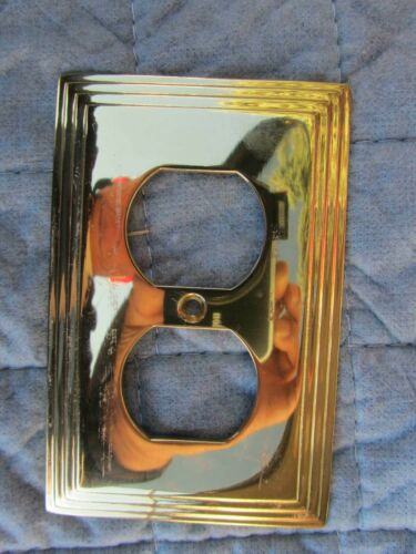 #8004D OUTLET COVERS Solid Brass AmerTac