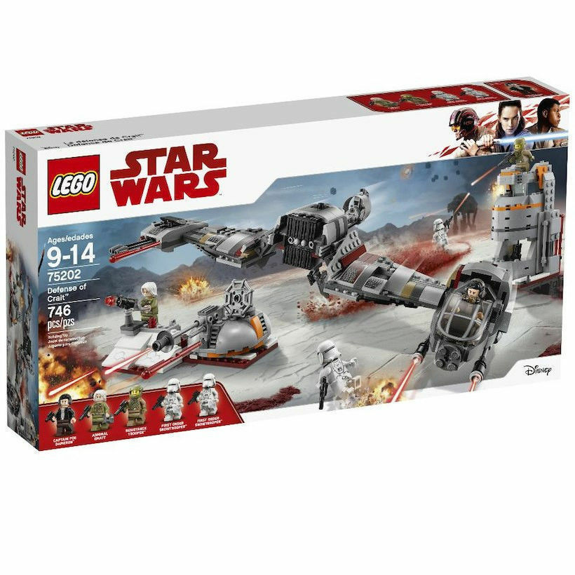 75202 DEFENSE OF CRAIT last jedi star wars lego legos set NEW poe first order