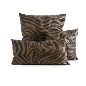Cuscini Zebrati.Cuscino Arredo Ecopelle Zebra Di Morbidissimi Cioccolato E