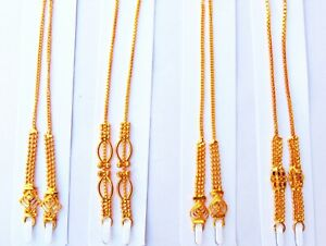 22k Gold Plated Chain Indian Women Kaan Chain Heavy Earrings Supported Ear Chain