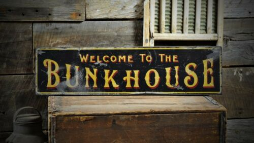 Welcome To The Bunkhouse Sign Rustic Hand Made Vintage Wooden ENS1000539