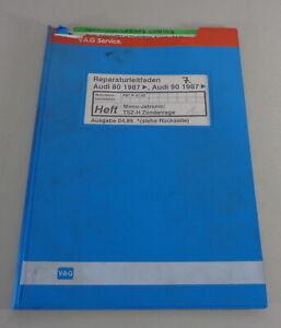 Manual de Taller Audi 80/90 B3 Tipo 89 Mono-Jetronic / Tsz-H Sistema Encendido