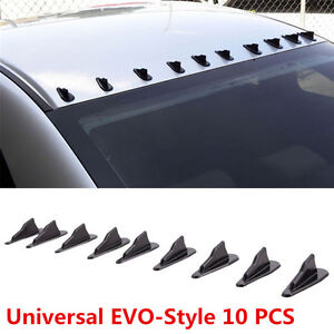 10pcs-PP-Roof-Shark-Fins-Spoiler-Wing-Kit-Vortex-Generator-Black-for-EVO-Style