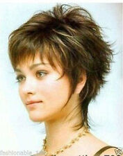 new popular fine short brown mix hair lady wigs for women wig