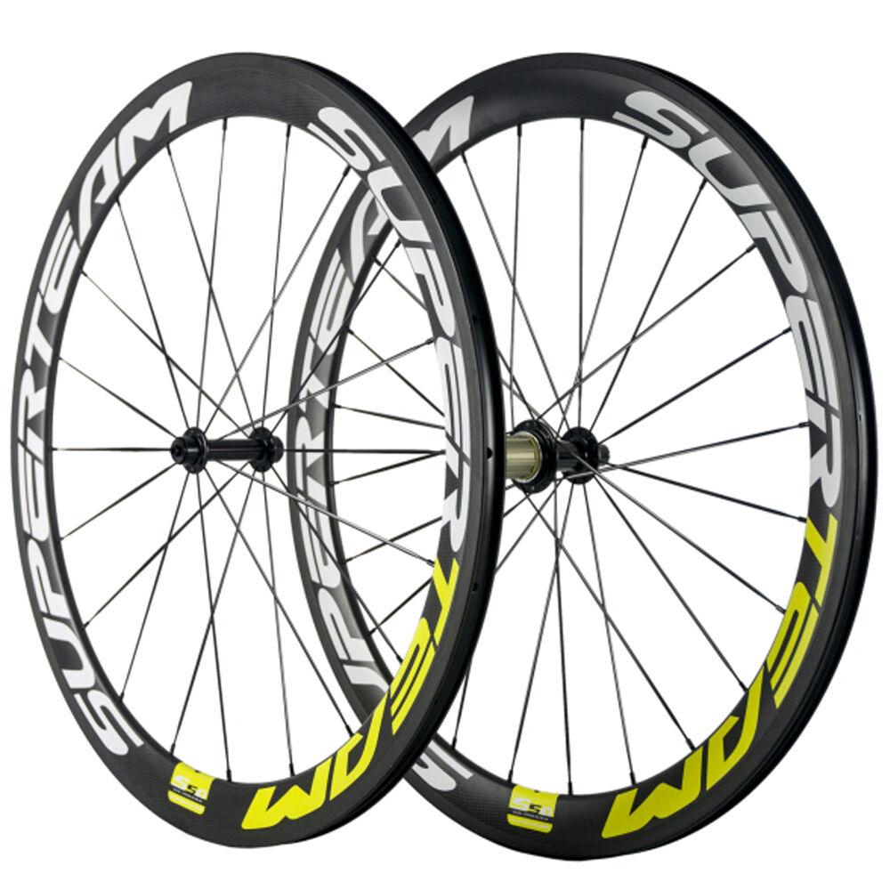 50mm Bike Wheelset Carbon Clincher Wheels Road Bike R13 Hub SUPERTEAM Race Wheel