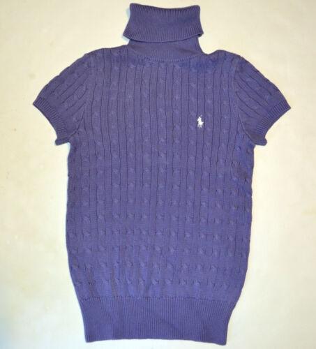collo Lauren Sport a cotone maniche corte in maglia Ralph alto cotone Maglione a a lavorato Women in HAq6TwY
