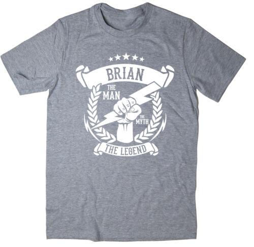 6 colours The Legend T-Shirt The Man Christmas gift idea The Myth Brian