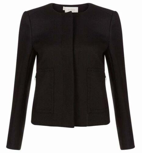 Rrp £ Varie Hobbs dimensioni nera 179 lana Giacca di Beatrix wqRaR40